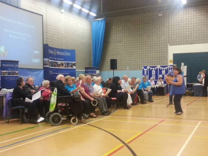 The highlight of the Merthyr event, for us, was seeing the local Alzheimer's Society choir.